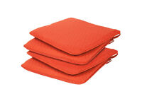 NEW 2 x PADDED PATIO CHAIR SEAT PADS HIGH QUALITY REMOVABLE + 2 x SPARE EXTRA COVERS