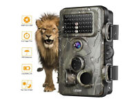 Trail Camera 12MP 1080P HD Time Lapse 65ft 120° Wide Angle Night Vision IR IP66 2.4 LCD Screen