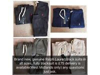 Unisex Ralph Lauren Track Suits