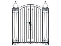 Ornamental Garden Gate Wrought Iron 122x20.5x160 cm-49420