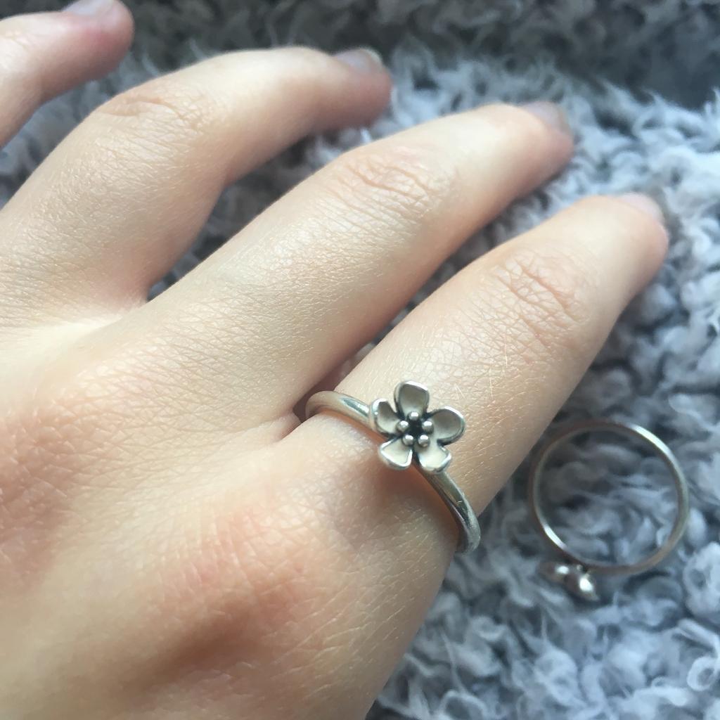 Pandora Pink Flower Ring Size 54 In Stannington South Yorkshire