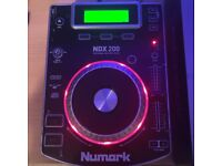 Numark NDX200 cdj dj decks CD player