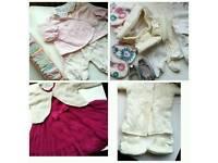 Baby clothes age 0-3 newborn girls bundle pram suit hats vests jackets dresses