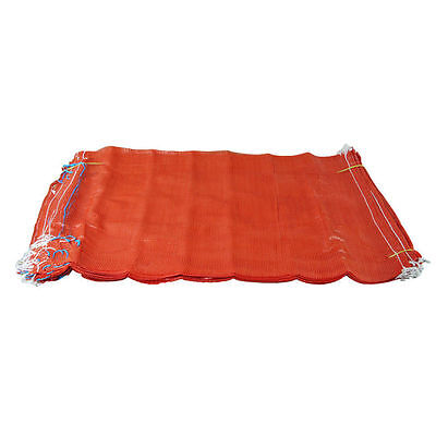 200 Orange Net Sacks Mesh Bags Kindling Logs Potatoes Onions 50cm x 80cm / 30Kg