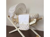Mothercare Moses basket & a stand