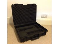 Pelican style transport case for camera/video/music gear