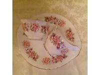 Lovely sandwich/cake plate with matching milk jug and sugar bowl