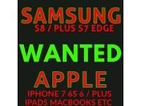 IPHONE 7 / 7 PLUS & SAMSUNG S8 / PLUS WANTED 32GB 64 GB 128GB 256GB UNLOCKED VODAFONE EE O2