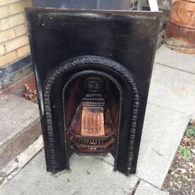 Cast-iron fireplace