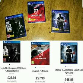 Ps4 games. New sealed
