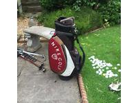 Golf Bag and Balls.