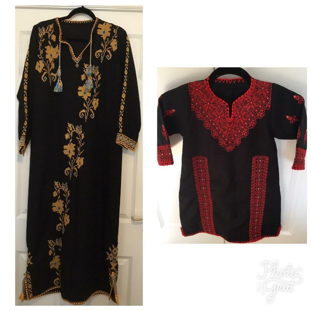 Job Lot of Two Handmade Stitched Embroidered Dresses