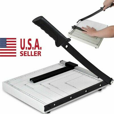 Paper Cutter Metal Base Guillotine Page Trimmer Blade Scrap Booking A4 To B7 12