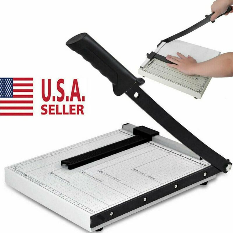 Paper Cutter Metal Base Guillotine Page Trimmer Blade Scrap