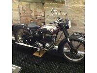 Vintage BSA c11 Motorbike 250cc