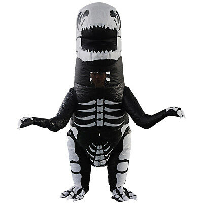 Funny Skeleton T-REX Costume Inflatable Dinosaur Halloween Costume For Kids (Skeleton Halloween Costume For Kids)