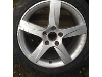 1x seat alloy wheel with tyre
