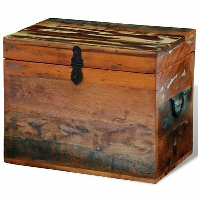 vidaXL Solid Wood Storage Box Reclaimed Material Vintage Style Home Furniture ()