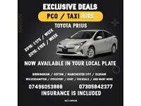 Toyota Prius Manchester Private Hire / taxi rental /hire [ Manchester Office ]