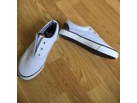 Boys white shoes size 2
