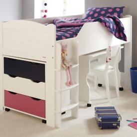 Aspace midsleeper raised kids bed, excellent condition