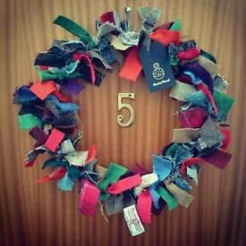 Harris Tweed Wreath
