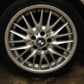 X 4 Genuine BMW 18 inch MV1 Alloy wheels & Tyres 225/40R18 - 255/35R18