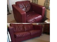 Good quality Cargo branded Leather Armchair & Two Seater Sofa