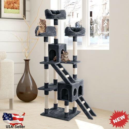 """70.3"""" Cat Tree Activity Tower Pet Kitty Furniture Kitten Scr"""