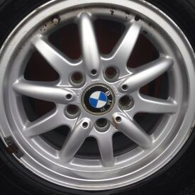 B m w alloy wheel & tyre
