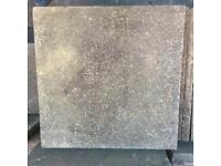 Paving Slabs - weathered (measure 59.5 x 59.5 cm) - small pebbled concrete