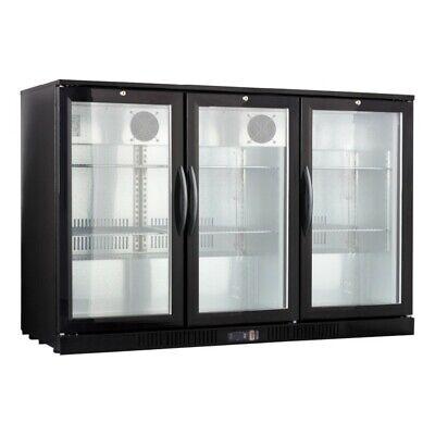 Counter Height 54 Wide 3-door Glass Back Bar Beverage Cooler - Beer Fridge