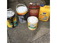 FEB DPM liquid membrane, Sandtex exterior paint, Wood preserver, FEB Rendamix