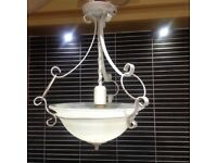 2 Vintage style ceiling lights, unusual, good condition