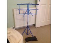 Blue music stand never used