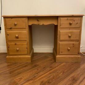 Solid wood dressing table / chest of drawers