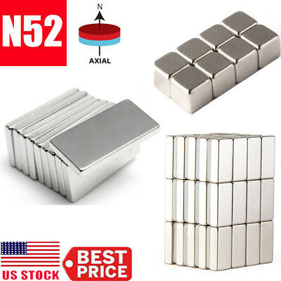 5-50pcs Super Block Magnet Strong Square Neodymium Rare Earth Magnets Muti-size