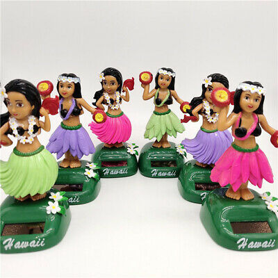 Hawaiian Hula Girl Solar Power Dancing Figure Doll Toy Car Auto Dashboard Decor ()
