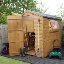NEW 7x5 Premium quality T&G shed with T&G floor and opening window Groundsmen shed
