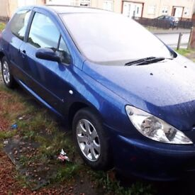 Peugeot 307 1.6 petrol blue