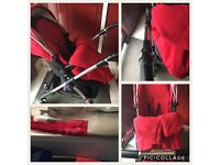 Red silver cross wayver