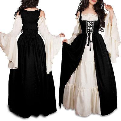 Frauen Erwachsene Halloween Cosplay Mittelalter Kostüm Phantasie Maxi Kleid ()