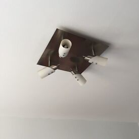 Square ceiling light with 4 spotlights