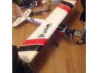 RC Aeroplane, Chris's Foss Mk2 Wot trainer,full servos, engine Os46 LA nitro engine,barely if run in