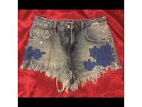 New Zara denim shorts