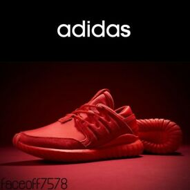 Adidas Originals TUBULAR NOVA 'Triple Red' Sneakers - UK Size 9