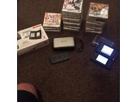 Nintendo ds lite + 20 games