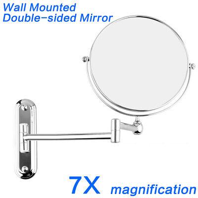 Shave Mirror - GURUN 7X MAGNIFICATION EXTENDING MAKEUP MIRROR Vanity Wall Mount Shaving Hotel