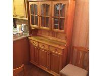 Solid pine Welsh dresser, like new, could deliver