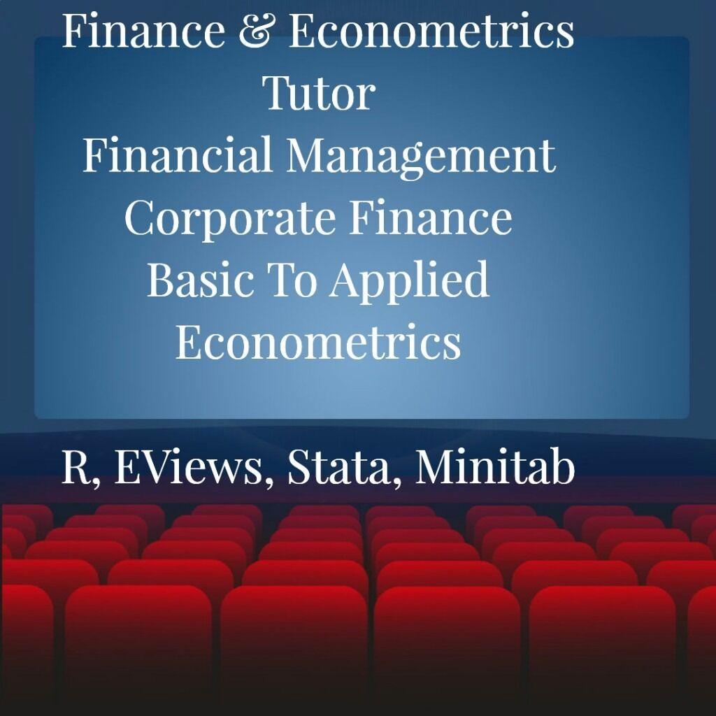 Do you need an econometrics assignment or dissertation?